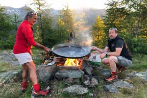 Cooking in the mountains