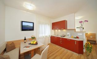 Holiday Apartment 2 – living area with kitchenette