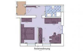 Floor plan of Holiday Apartment 2