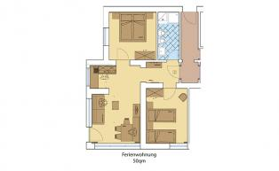 Floor plan of Holiday Apartment 1