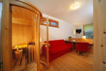 Luxury room with sauna – Vitalhotel Rainer