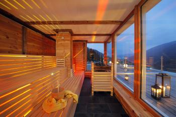 Panorama sauna at Vital-Hotel Rainer