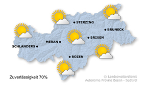 Weather forecast - South Tyrol