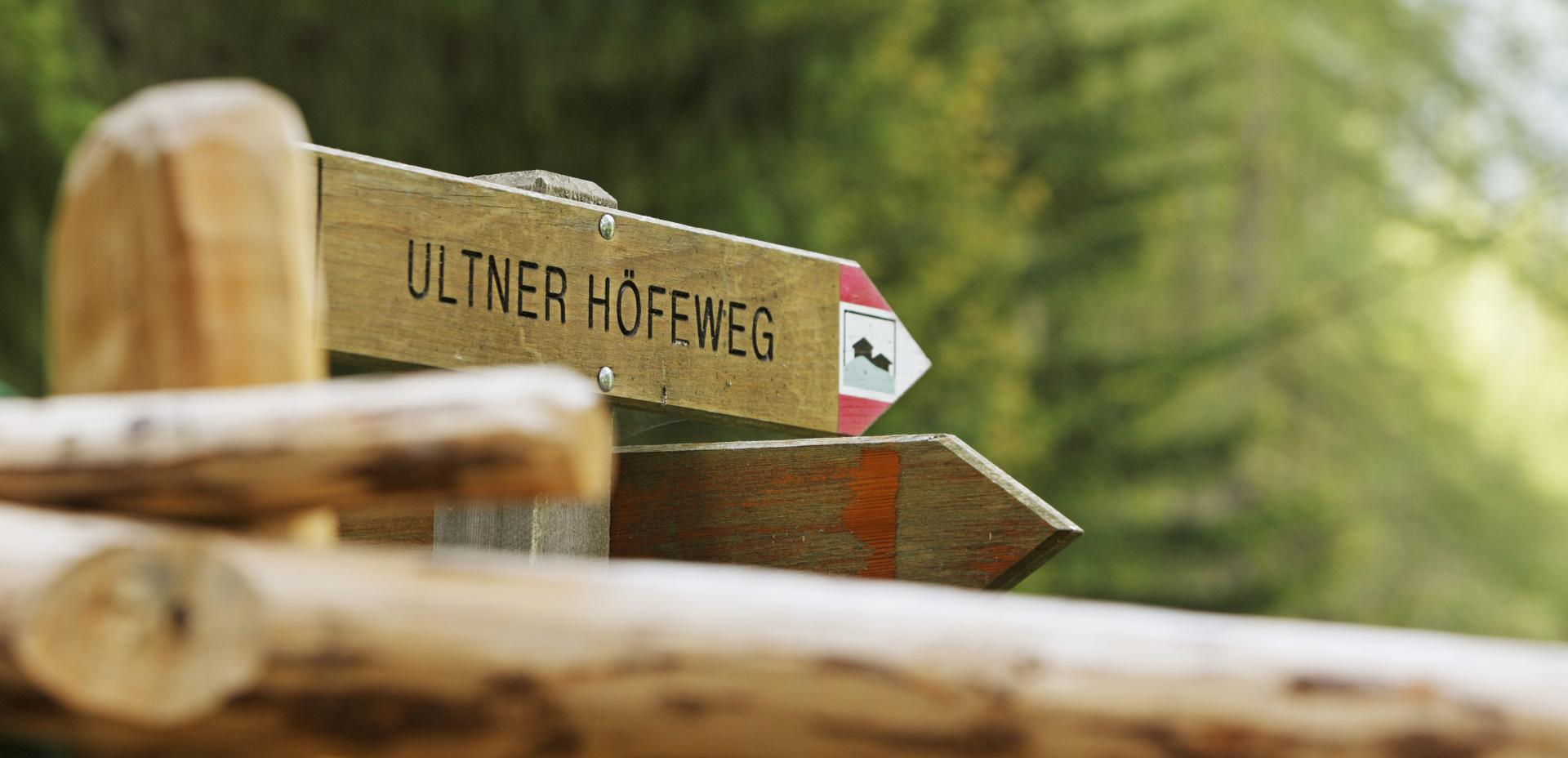 Ultental Farm Trail – trail marker