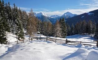 Winterlandschaft im Ultental